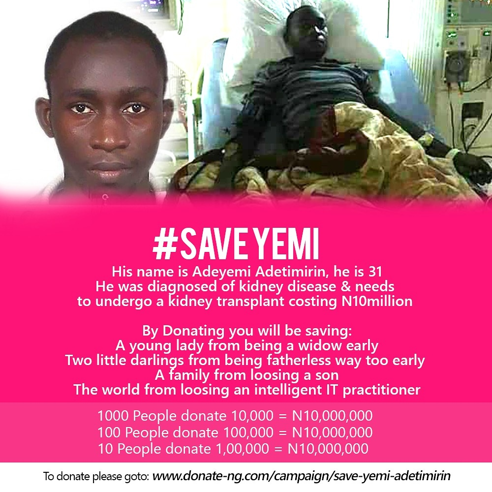 Bukola Adetimirin Needs N10m For Kidney Transplant